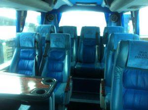 Inside dean travel Fleetwood Mini Coach